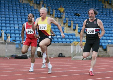 British Masters 100m 2009 (by Lesley Richardson)